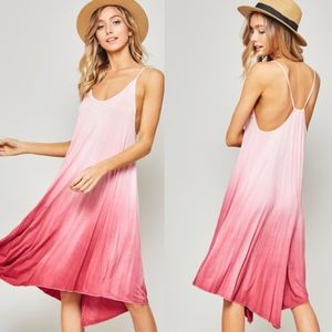 BAILEY Ombre Cami Dress - ROSE PINK